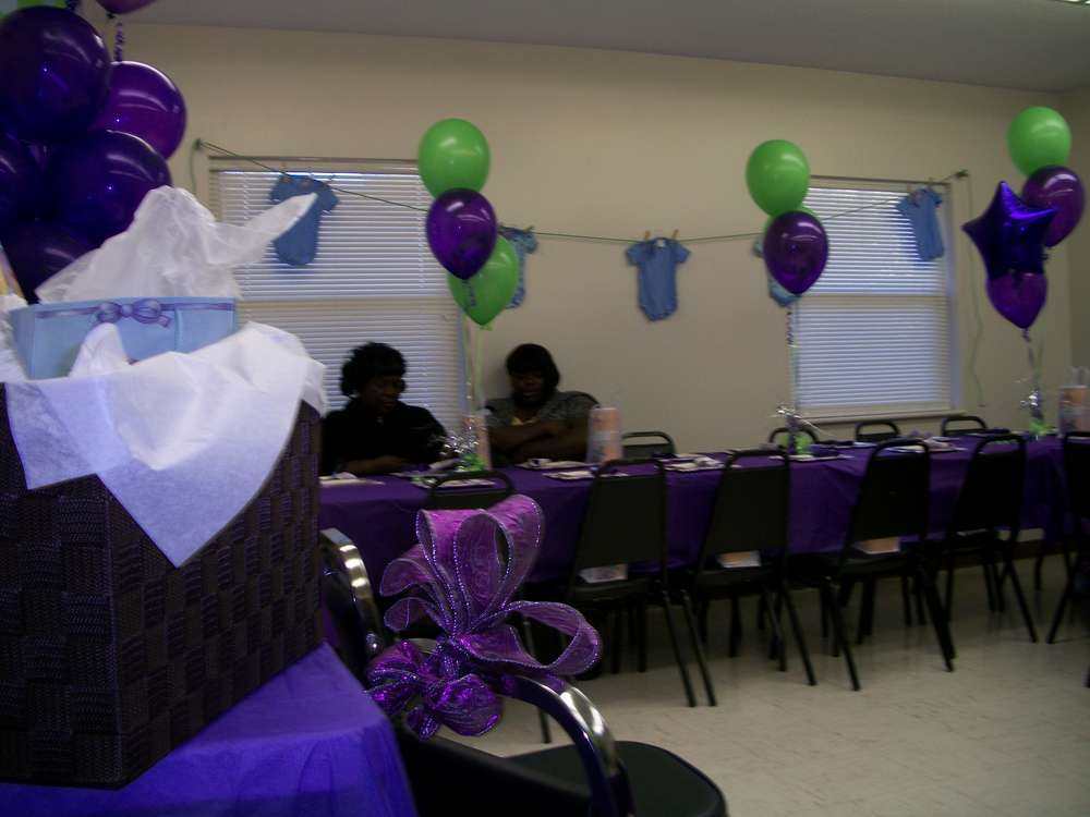 purple green baby shower party ideas photo 3 of 15 catch my party