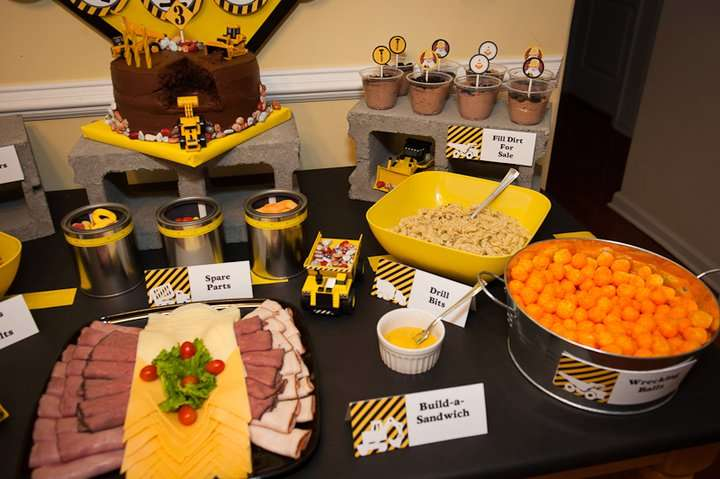 Construction birthday party ideas photo 4 of 15 catch for Construction cuisine