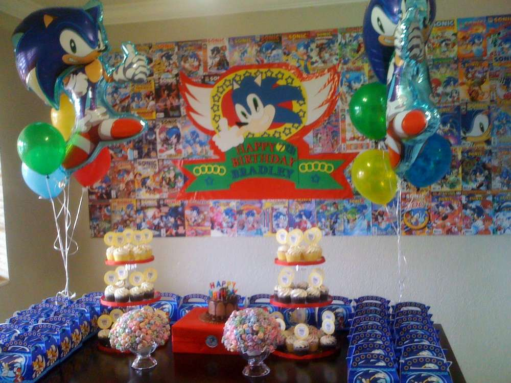 Sonic The Hedgehog Birthday Party Ideas Photo 8 Of 13 Catch My Party