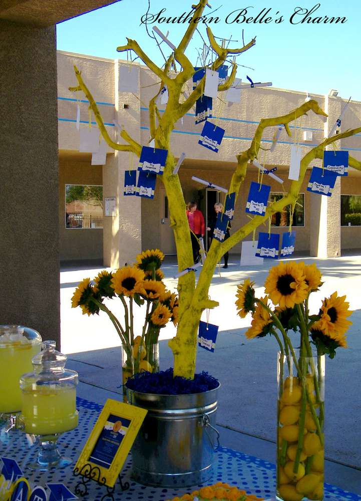 Blue Amp Yellow Graduation End Of School Party Ideas Photo