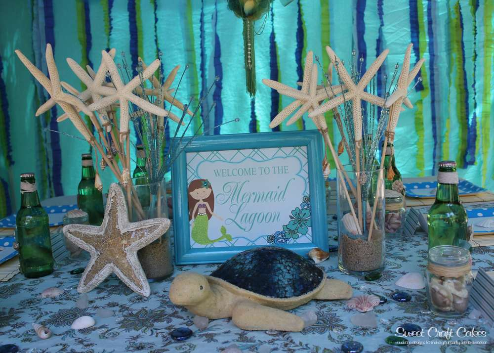 Under The Sea Mermaid Party Birthday Party Ideas Photo 3 Of 43