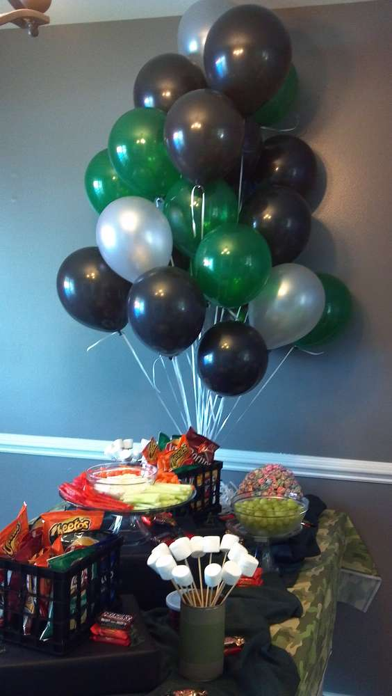 Army Camouflage Birthday Party Ideas Photo 8 Of 11