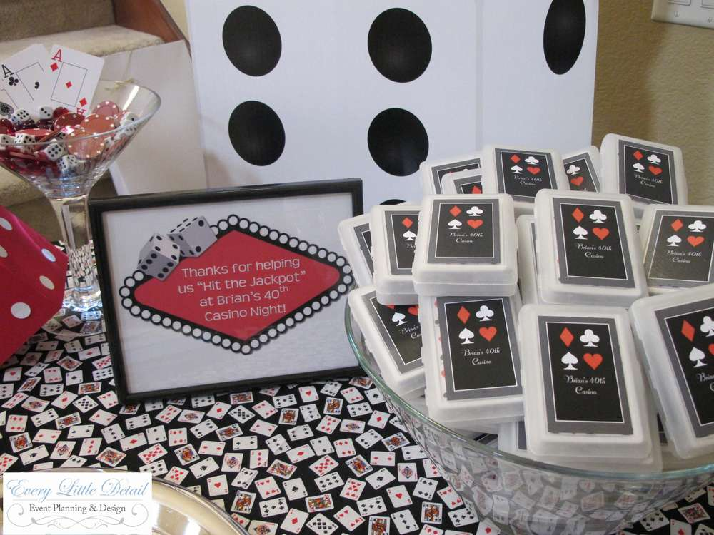 Casino Theme Party Favors
