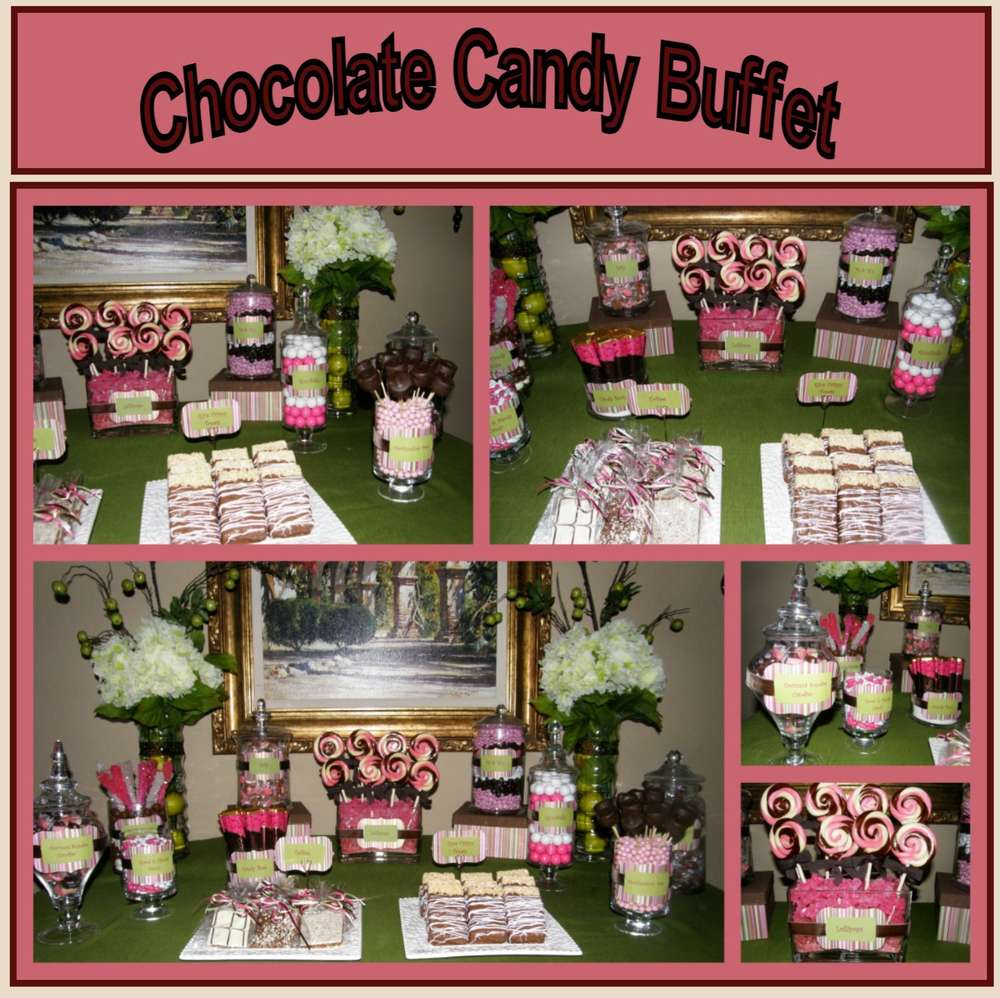 Sensational Pink Chocolate Candy Buffet Bridal Wedding Shower Party Download Free Architecture Designs Embacsunscenecom
