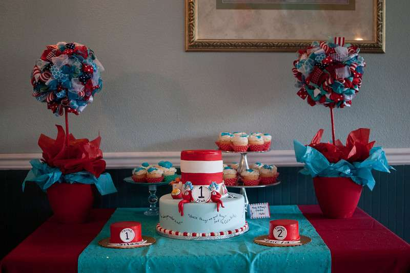 Thing 1 2 Twins First Birthday Party