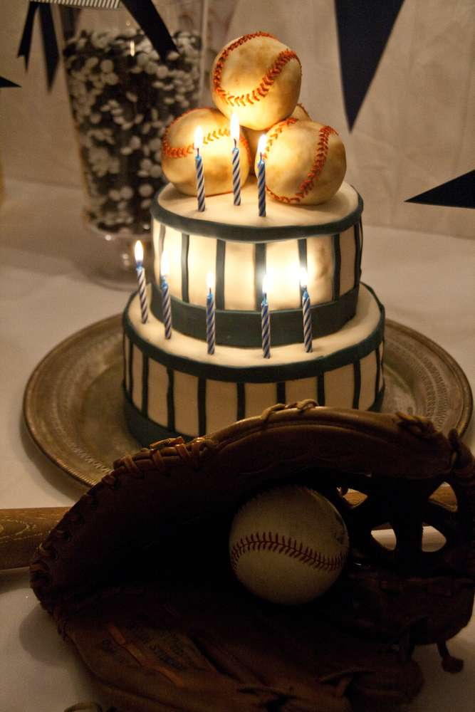 Vintage Baseball Birthday Party Ideas Photo 3 Of 22