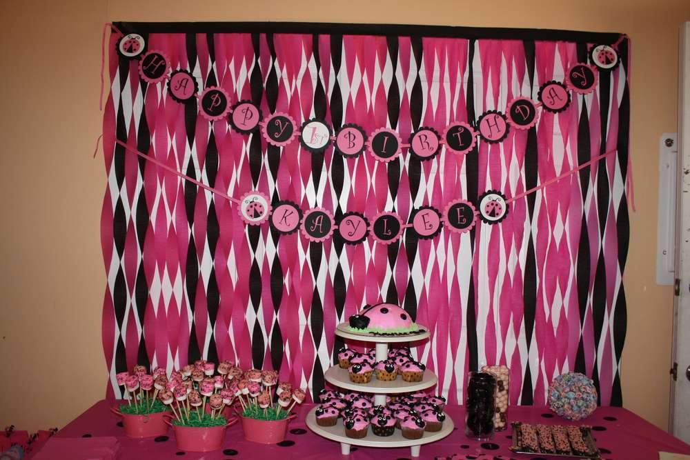 Ladybug Pink And Black Birthday Party Ideas Photo 1 Of 44 Catch