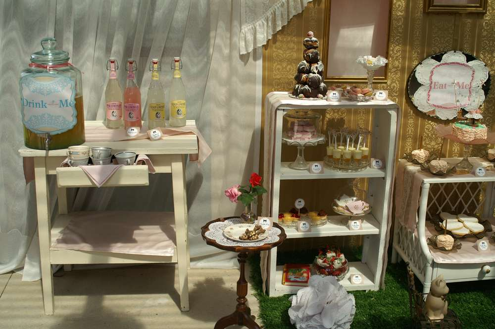 A Victorian Inspired Alice In Wonderland Party Tea Party