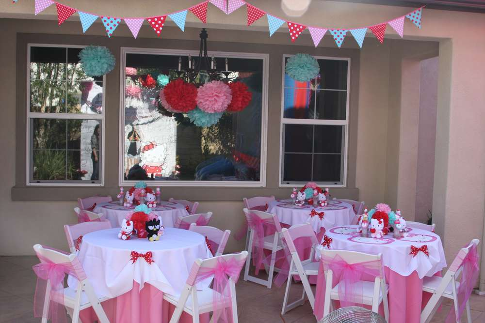 Hello Kitty Red Pink Aqua Birthday Party Ideas Photo 29 of 32