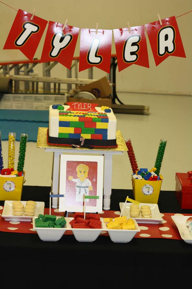 KarateLego Birthday Party Ideas Photo 8 of 14 Catch My Party