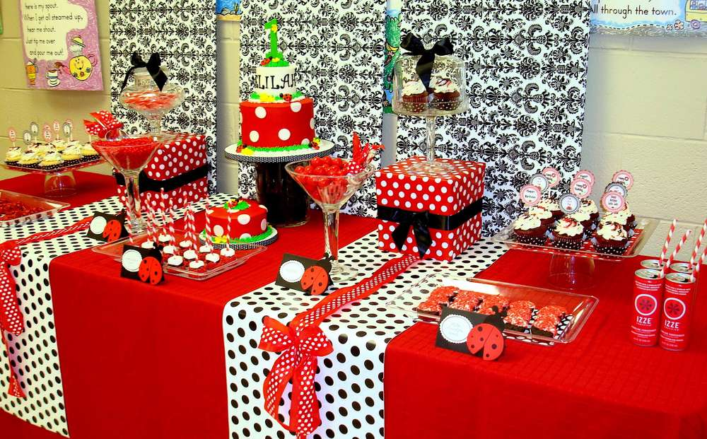 Ladybug Birthday Party Ideas Photo 1 Of 16 Catch My Party