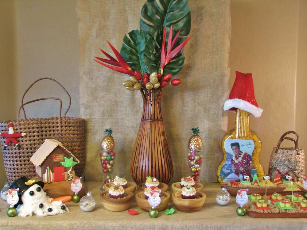 Tropical Christmas Party Ideas.Tropical Christmas Birthday Christmas Holiday Party Ideas Photo 1