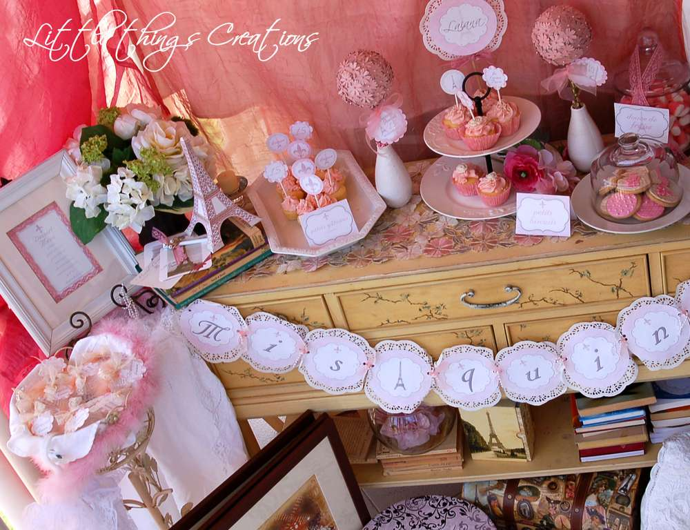 Vintage Shabby Chic Bridalwedding Shower Party Ideas Photo 8 Of
