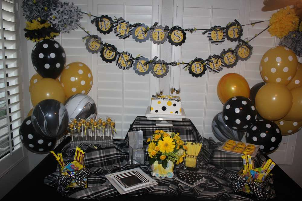 Bumble bees gender reveal party ideas photo 2 of 7 catch my party