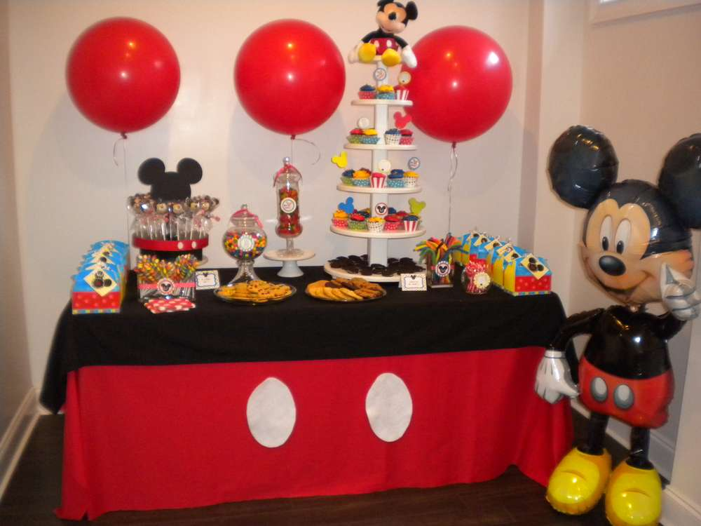 mickey mouse birthday party ideas photo 20 of 21 catch my party. Black Bedroom Furniture Sets. Home Design Ideas