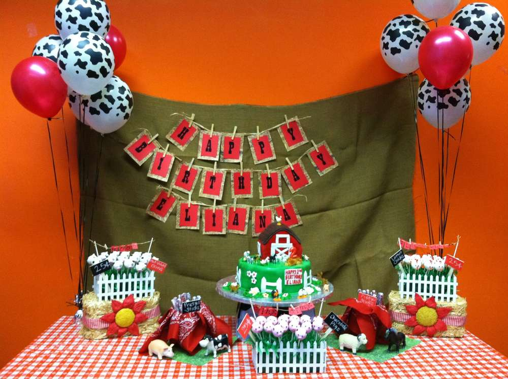 Farm Theme Birthday Party Ideas Photo 3 Of 17 Catch My Party