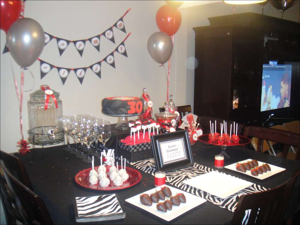 Black Red Cadillac Theme Birthday Party Ideas Photo 2 of 14