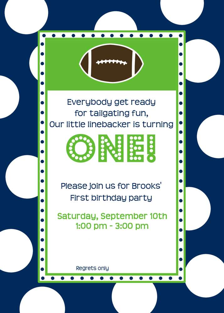 Football Birthday Party Ideas