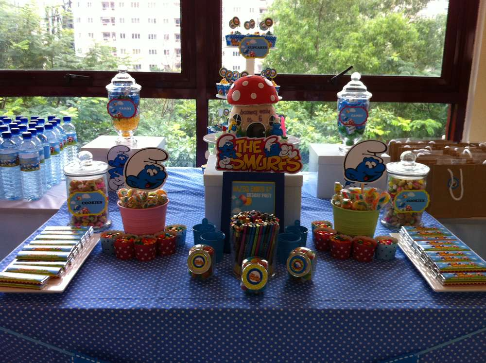 Smurfs Birthday Party Ideas | Photo 4 of 4 | Catch My Party