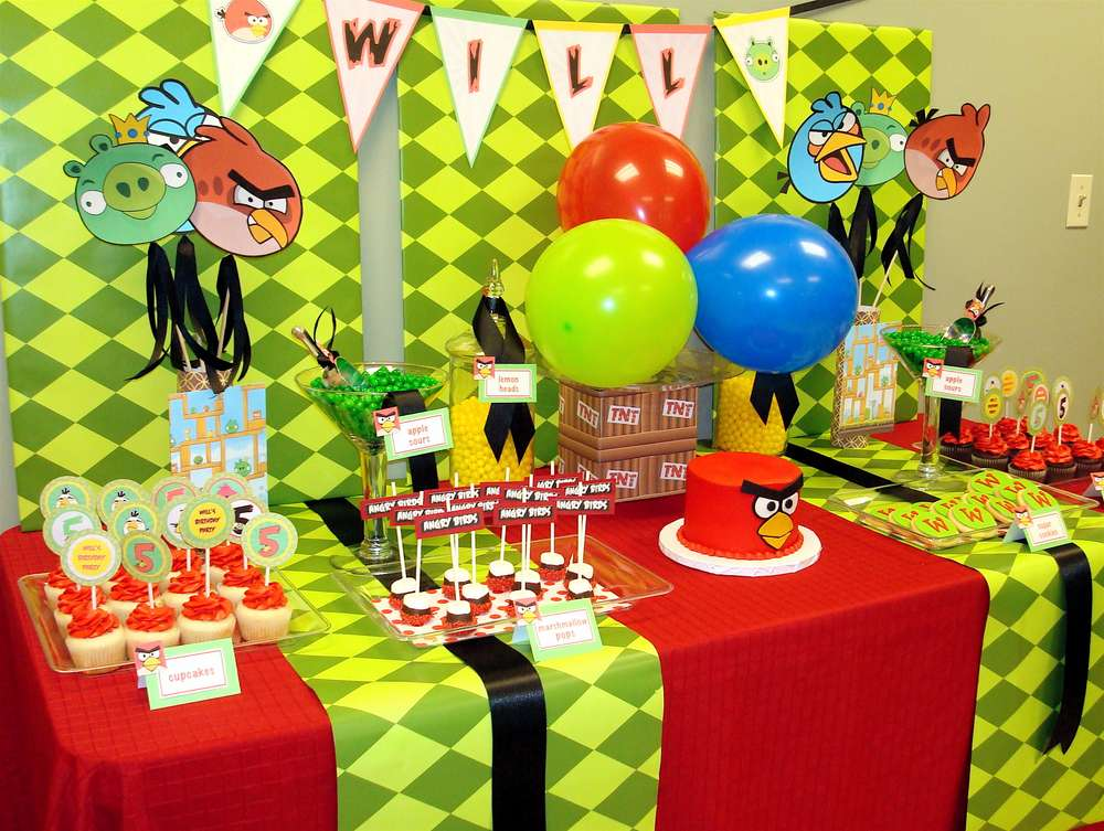 Angry birds birthday party ideas photo 9 of 10 catch my party wills 5th birthday filmwisefo Choice Image
