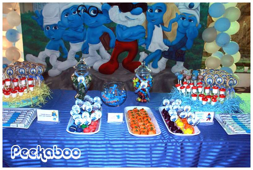 The Smurfs Birthday Party Ideas Photo 6 Of 11 Catch My Party