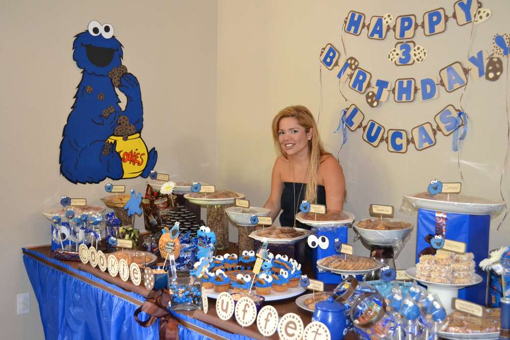 Cookie Monster Birthday Party Ideas Photo 9 of 29 Catch My Party