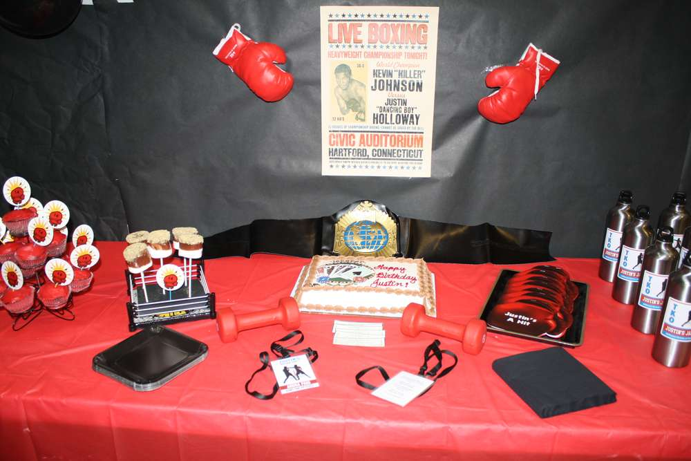 Boxing Birthday Party Ideas Photo 1 Of 15 Catch My Party