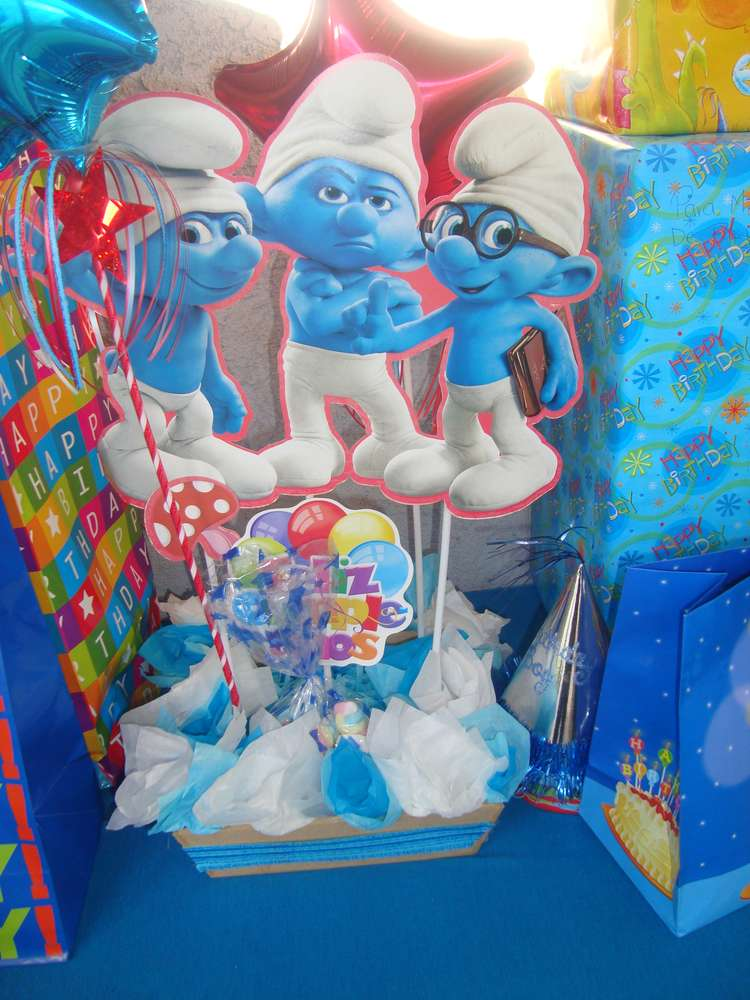 Smurfs Birthday Party Ideas | Photo 6 of 17 | Catch My Party