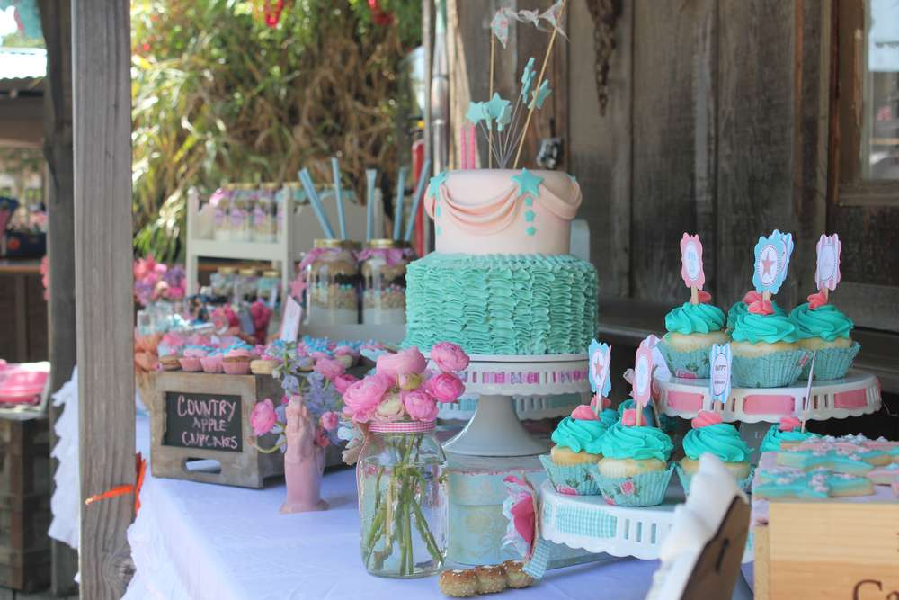 Vintage Shabby Chic Cowgirl Party Birthday Party Ideas Photo 9 Of