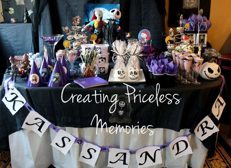 Nightmare Before Christmas Birthday Party Ideas Photo 9 Of 19