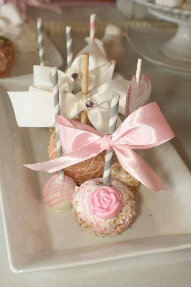 shabby chic vintage glam baby shower party ideas photo 4 of 17