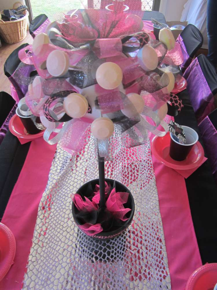 Pink Black And Zebra Birthday Party Ideas Photo 5 Of 24 Catch