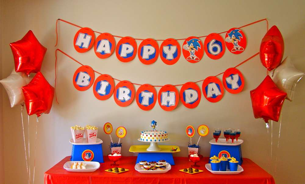 Sonic The Hedgehog Birthday Party Ideas Photo 1 Of 21 Catch My Party