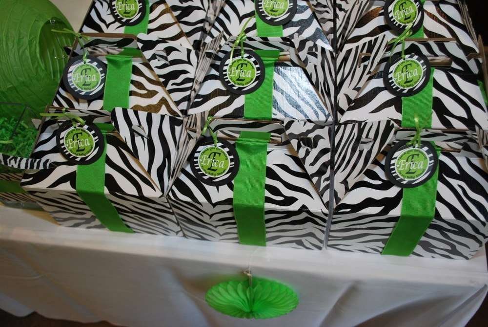 African zebra print baby shower party ideas photo 20 of for Animal print baby shower decoration ideas