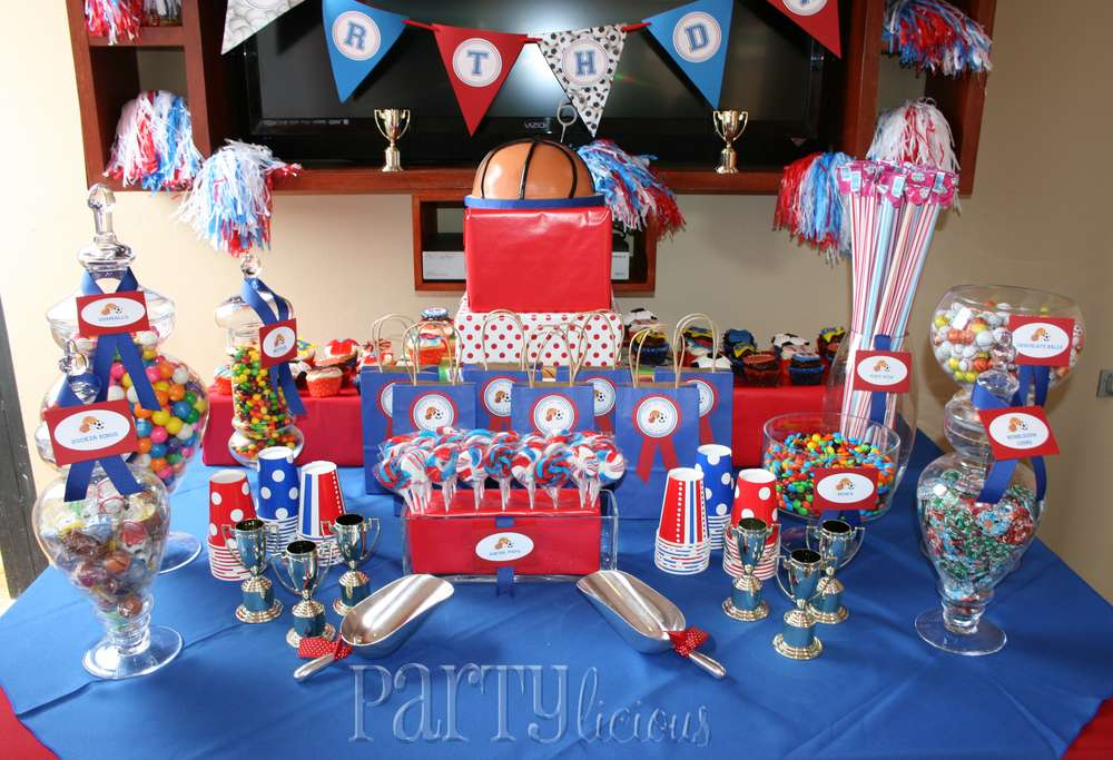 Sports birthday party ideas photo 1 of 12 catch my party for All decoration games