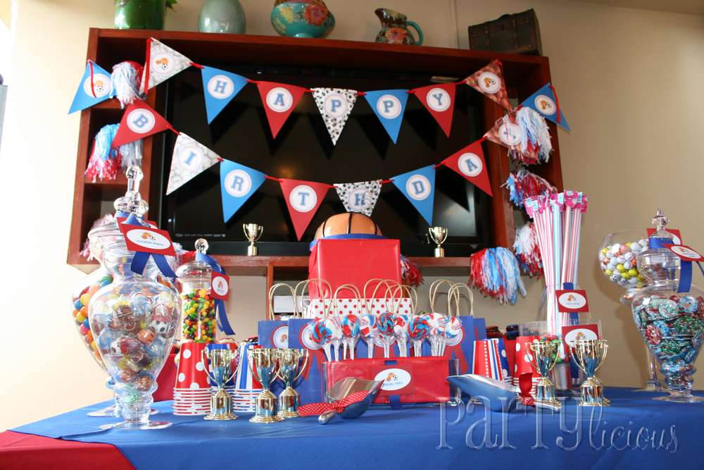 b933a1d49958f Sports Birthday Party Ideas | Photo 1 of 12 | Catch My Party