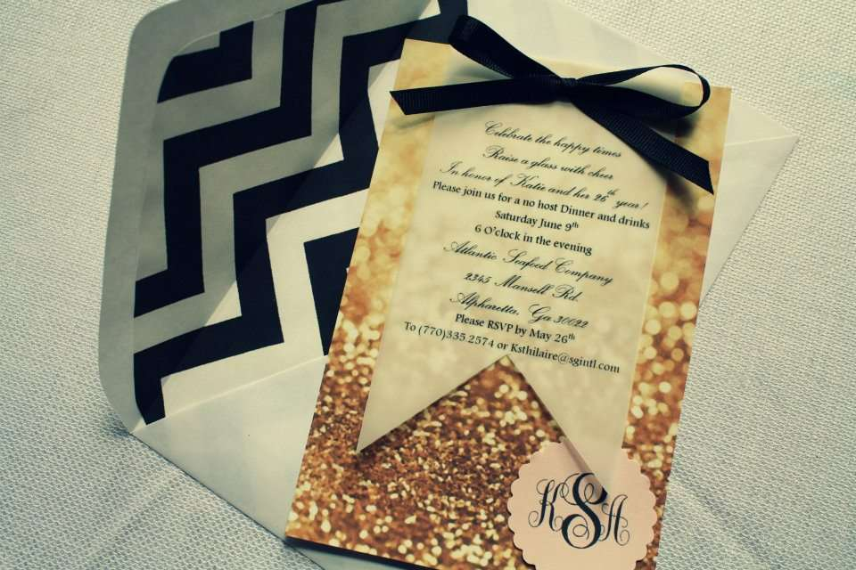 Black White Chevron Pale Pink Gold Birthday Party Ideas