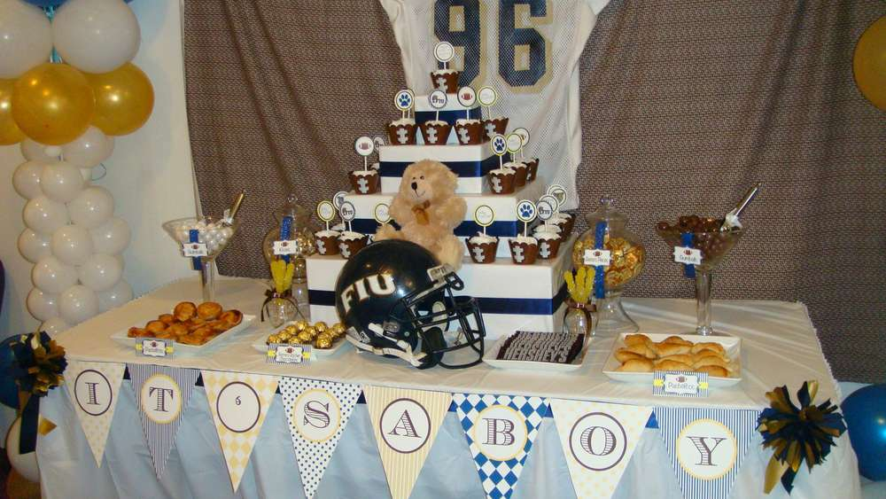 Football Baby Shower Party Ideas Photo 5 Of 10 Catch My Party
