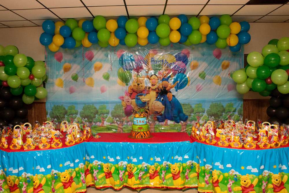 Winnie the pooh Birthday Party Ideas Photo 11 of 74 Catch My Party