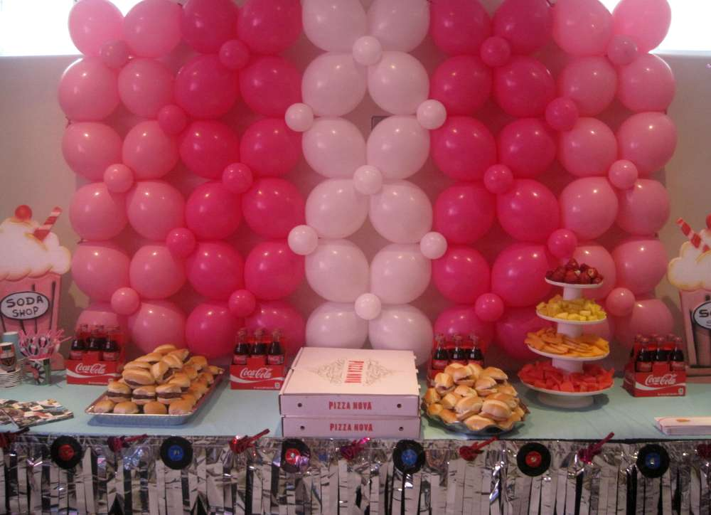 Sock Hop 50 S Theme Diner Birthday Party Ideas Photo 1