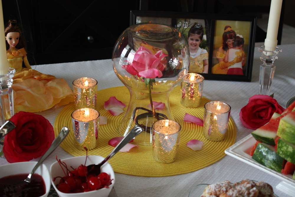 Princess Belle Decorations Captivating Princess Belle Party Birthday Party Ideas  Photo 8 Of 17  Catch Design Inspiration