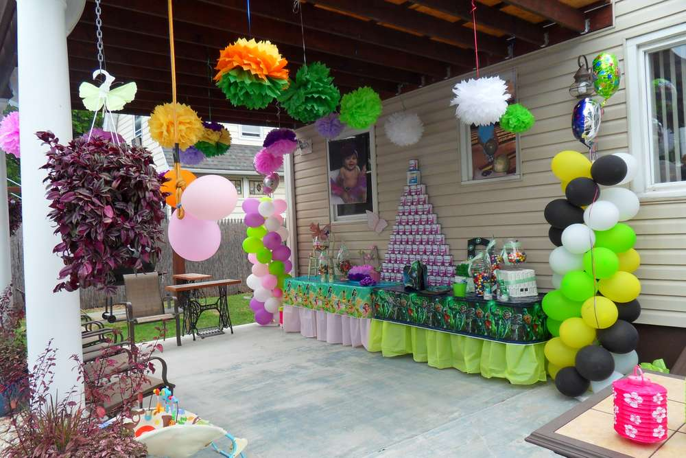 Thinker bell Green Lantern Birthday Party Ideas Photo 3 of 18