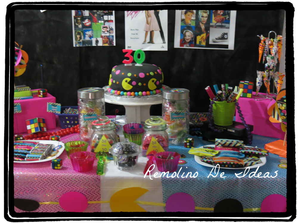 80s themed 30th birthday Birthday Party Ideas Photo 5 of 31
