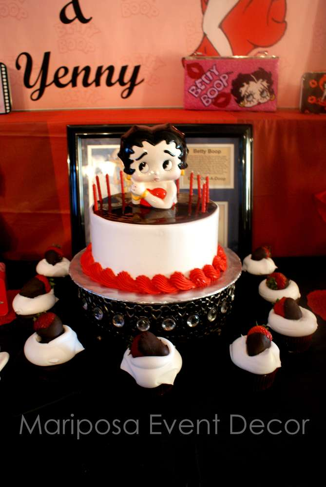 Betty Boop Birthday Party Ideas Photo 1 Of 8 Catch My