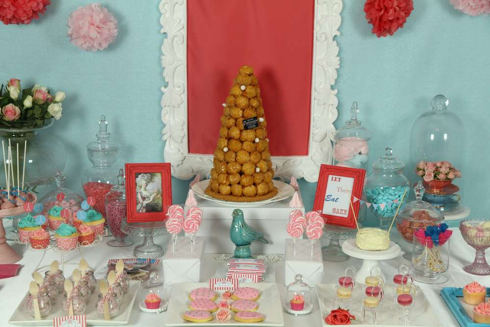 Parisian soiree with a touch of marie antoinette decadence for 30th birthday decoration packages