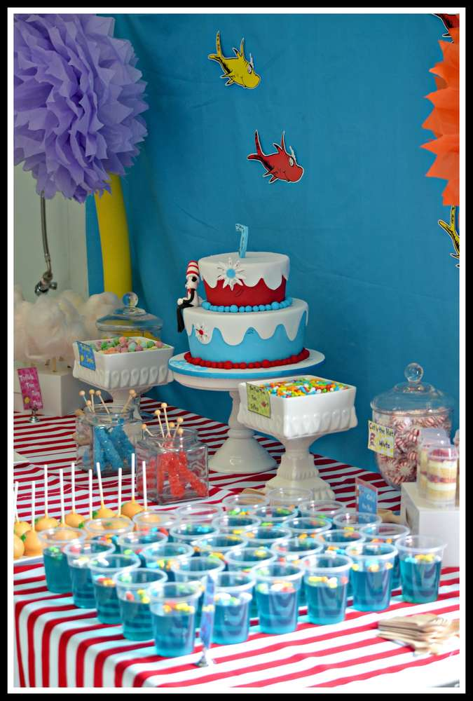 Dr Seuss Birthday Party Ideas Photo 1 Of 20 Catch My Party