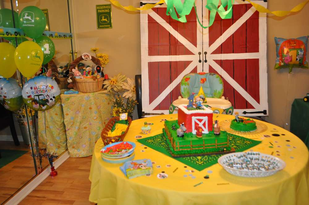 John Deere Barnyard Birthday Party Ideas