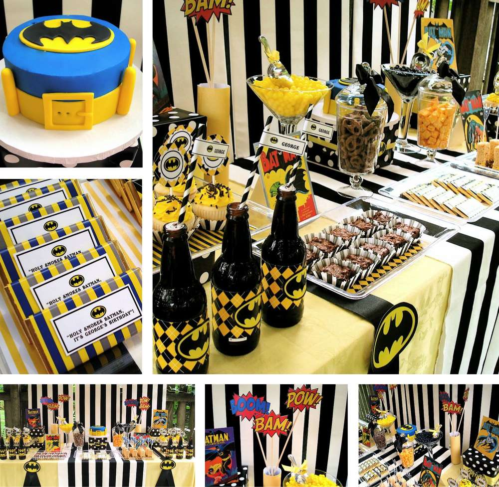 Super Heroes Batman Birthday Party Ideas Photo 1 of 13 Catch My