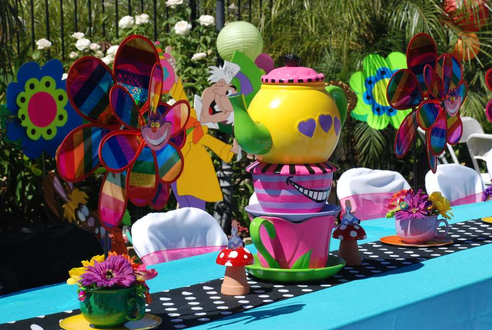 My mad hatter cake ideas and designs for Mad hatter party props