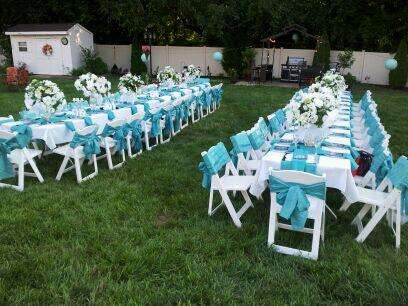 Tiffany Blue Garden Party Birthday Party Ideas Photo 7 Of 7